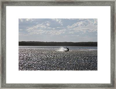 Framed Print featuring the photograph Splash At Lake Wollumboola by Miroslava Jurcik