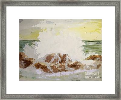 Framed Print featuring the painting Splash by Carol Grimes