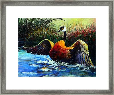 Splash Dance Framed Print
