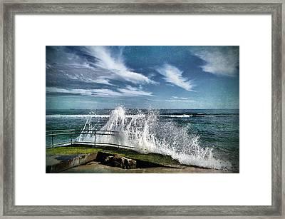 Splash Happy Framed Print by Kym Clarke