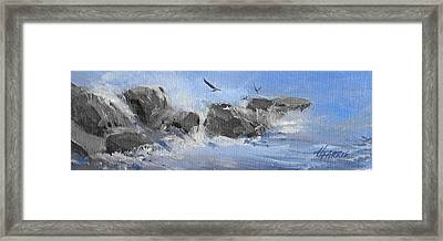 Framed Print featuring the painting Splash by Helen Harris