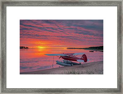 Splash-in Sunrise Framed Print