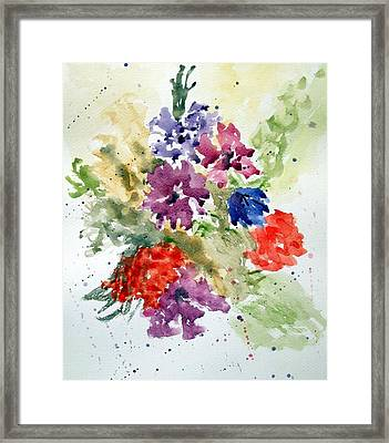 Splash Framed Print by Jean Billsdon