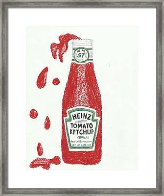 Splash Ketchup Framed Print by Jasmine Norris-Dixson