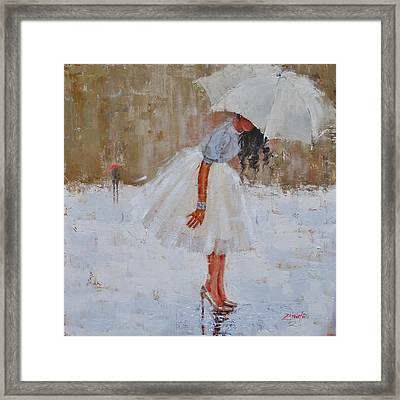 Splash Framed Print by Laura Lee Zanghetti