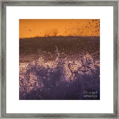 Splash Framed Print by Marco Crupi