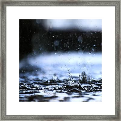 Splash Framed Print by Michael Derez