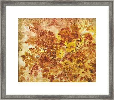 Splash Of Autumn Color Framed Print by Lois Mountz