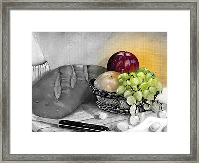 Splash Of Color Framed Print by Penny Everhart
