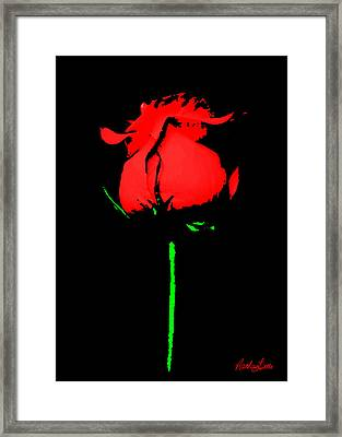 Splash Of Ink Framed Print