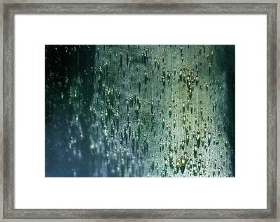 Splash Of Rain Framed Print by Karen Wiles