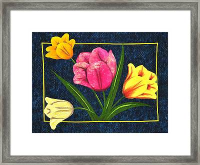 Splash Of Tulips Framed Print