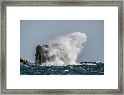 Framed Print featuring the photograph Splash by Paul Freidlund