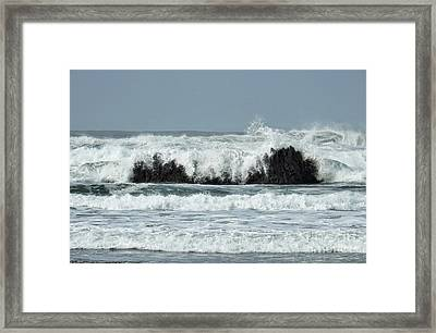 Framed Print featuring the photograph Splash by Peggy Hughes