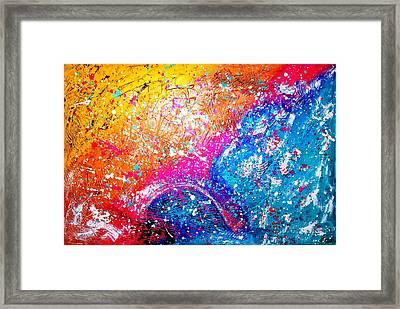 Splash Framed Print by Piety Dsilva