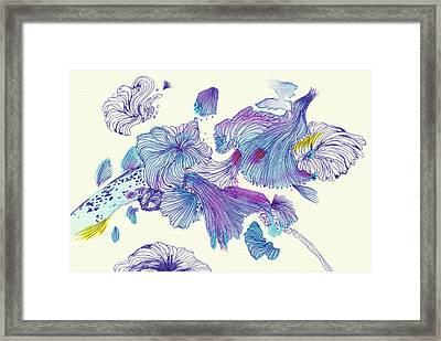 Splash - #ss18dw007 Framed Print by Satomi Sugimoto
