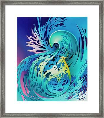 Splash Framed Print by Symona Colina