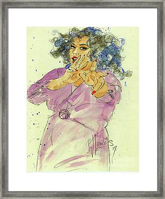 Splashed With Fun Framed Print