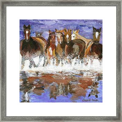 Framed Print featuring the painting Splashing Around by Jamie Frier