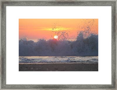 Splashing High Framed Print