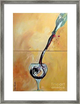 Splashing Framed Print by Lisa Kaiser