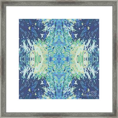 Splashing- Water Mandala Framed Print by Margaret Juul