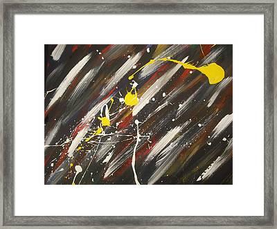 Splatter Framed Print by Karen C