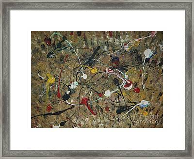 Splattered Framed Print by Jacqueline Athmann