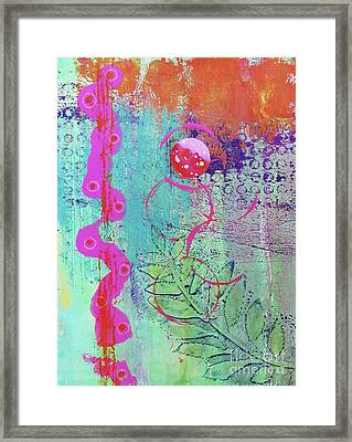 Splendid Day In Abstract Framed Print by Desiree Paquette