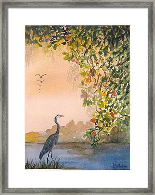 Splendor In The Grass Framed Print by Georgia Johnson