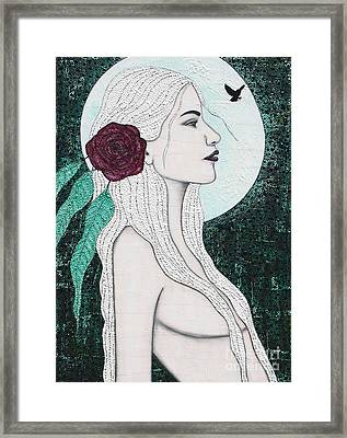 Framed Print featuring the mixed media Splendour by Natalie Briney