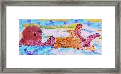 Splish Splash Framed Print by David Millenheft
