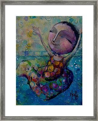 Splish Splash Framed Print by Eleatta Diver