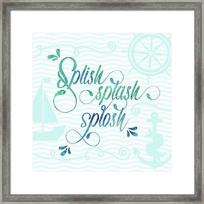 Splish Splash Splosh Seaside Design Framed Print by Natalie Kinnear