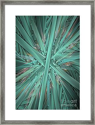 Split Cylinder Fiery Framed Print by Deborah Benoit