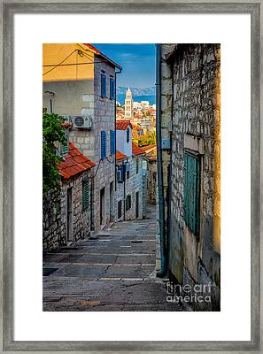 Split From Marjan Hill Framed Print by Inge Johnsson