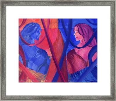 Split Personality Framed Print by Vykky Gamble