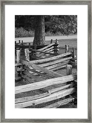 Split Rail Fence Framed Print by Eric Liller
