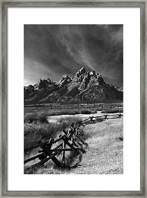 Split Rail Fence Framed Print