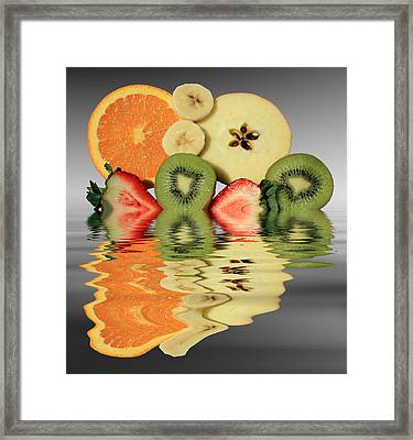 Split Reflections Framed Print by Shane Bechler