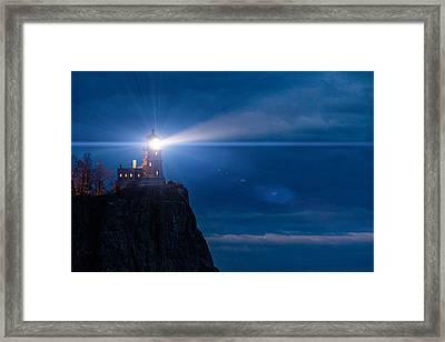 Split Rock Beacon Framed Print by Mark Goodman