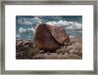 Framed Print featuring the photograph Split Rock In Joshua Tree National Park by Randall Nyhof