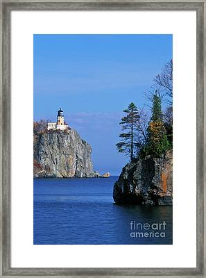Split Rock Lighthouse - Fs000120 Framed Print