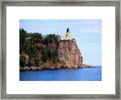 Split Rock Lighthouse Framed Print by Bridget Johnson