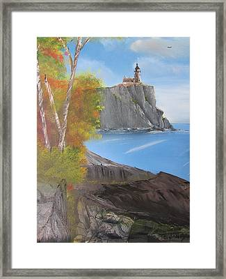 Split Rock Lighthouse Minnesota Framed Print