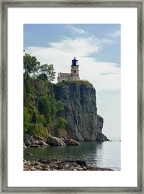 Split Rock Lightouse Framed Print by Penny Meyers