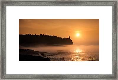 Split Rock's Morning Glow Framed Print