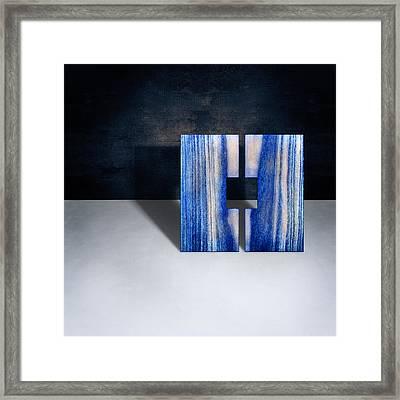 Split Square Blue Framed Print by YoPedro