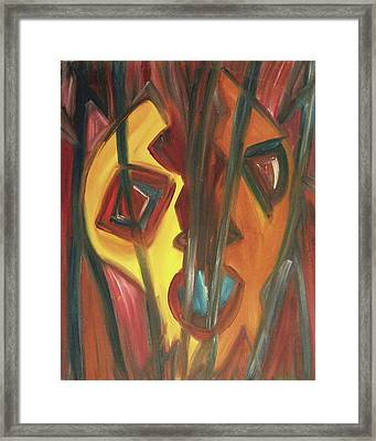 Split Framed Print by Suzanne  Marie Leclair