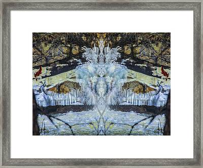 Split The Falls Framed Print